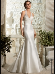 Halter Lace Fit And Flare Mori Lee Blu Wedding Dress 5311