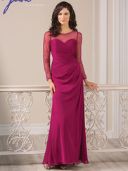 Jade J185013 Illusion Long Sleeves Mother Of The Bride Dress
