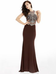 Jasz Couture 5995 High Neck Beaded Prom Gown