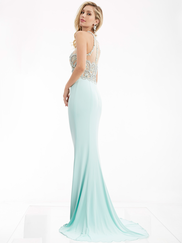 Jasz Couture 6005 High Illusion Neck Prom Gown