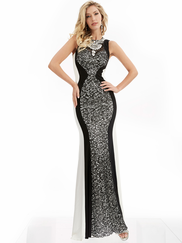 Jasz Couture 6039 High Neck Prom Gown
