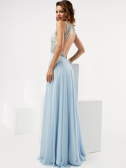 Jasz Couture 6072 High Neck Beaded Prom Gown