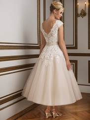 Justin Alexander 8815 V-neck Wedding Dress