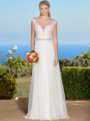 Kitty Chen Cap Sleeves Bridal Gown Monica