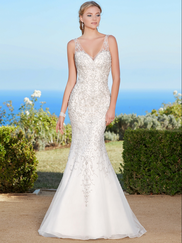 Kitty Chen V-neck Beaded Bridal Gown Naveah