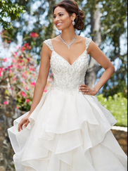 Kitty Chen V-neck Bridal Gown Eloise