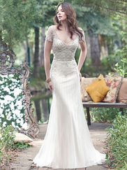 Maggie Sottero Amal V-neck Beaded Bridal Gown