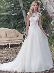 Maggie Sottero Chandler Cap Sleeves Bridal Gown