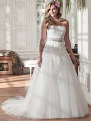 Maggie Sottero Nadia Strapless Lace Bridal Gown