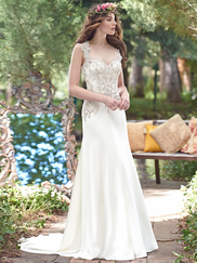 Maggie Sottero Novi Sweetheart Beaded Lace Bridal Gown