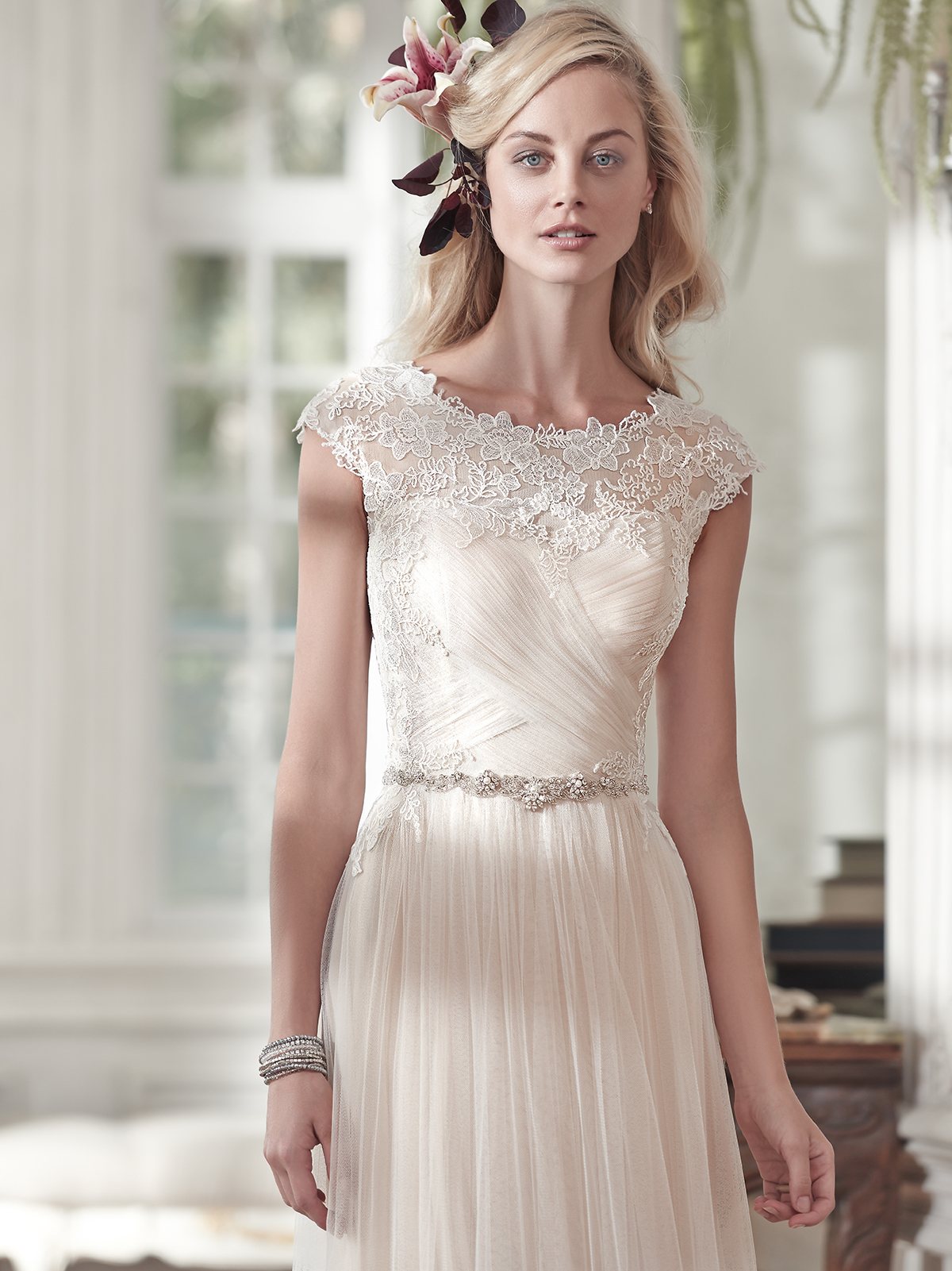 Maggie Sottero Patience Marie Cap Sleeves A Line Bridal Dress Dimitradesigns Com