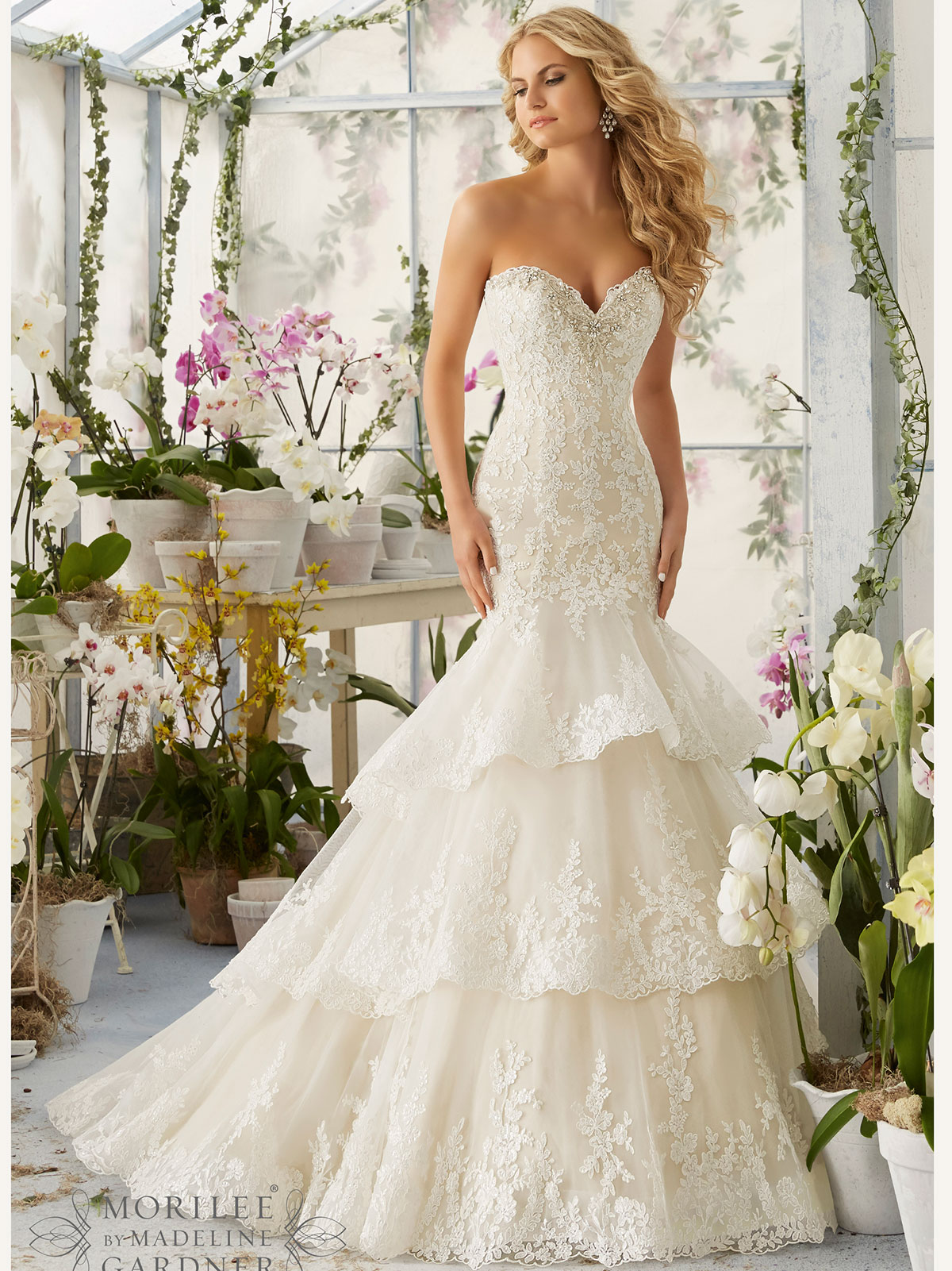 Mori Lee 2810 Sweetheart Beaded Mermaid Bridal Dress