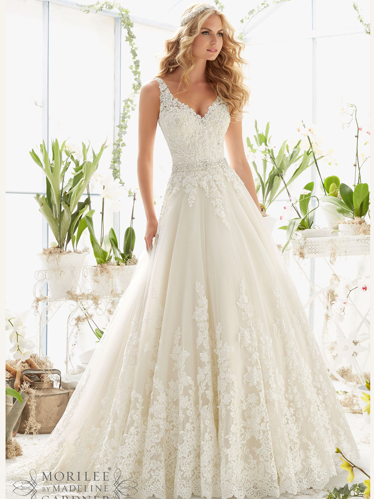 2821 mori lee ball gown bridal gown