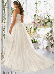Mori Lee Julietta 3193 Sweetheart Embroidered Lace Wedding Dress