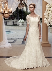 Off The Shoulder Beaded Lace Bridal Gown Casablanca 2119