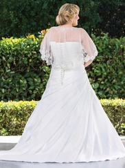 Pleating Plus Size Wedding Dress Mercedes