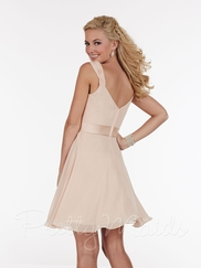 Scoop Cowl Neckline Pretty Maids Bridesmaid Short Dress 22587