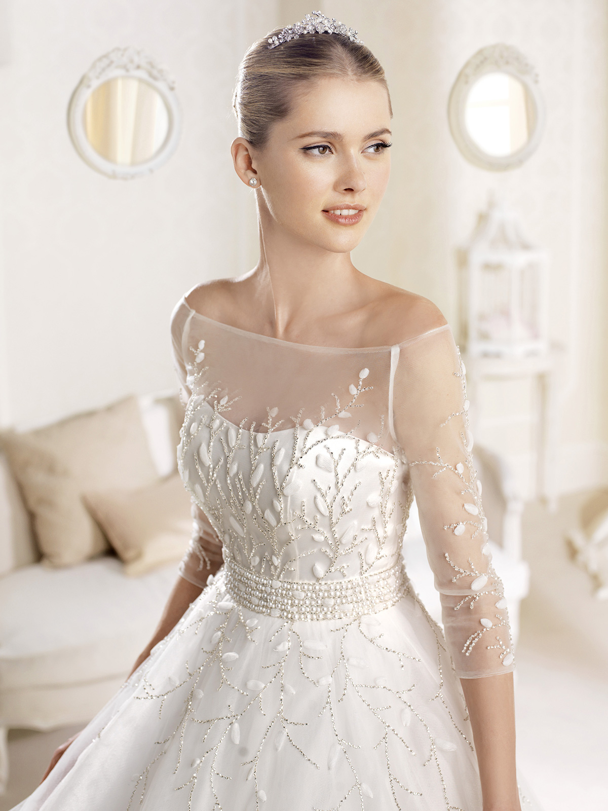 wedding dresses with three quarter sleeves sleeved wedding dresses Wedding Dresses With Three Quarter Sleeves 83