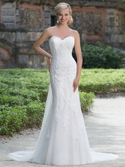 Sincerity 3876 Sweetheart Lace Wedding Dress