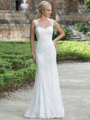 Sincerity 3885 Queen Anne Wedding Dress