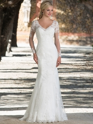 Sincerity 3898 V-neck Wedding Dress