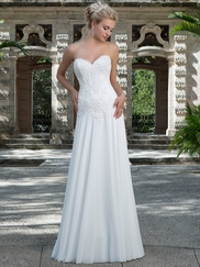 Sincerity 3899 Sweetheart Beaded Lace Wedding Dress