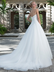 Sincerity 3901 Sweetheart Beaded Lace Wedding Dress