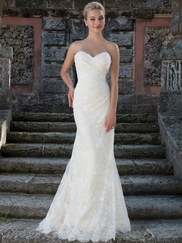Sincerity 3908 Portrait Neckline Wedding Dress