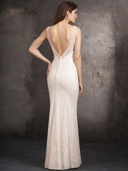 Sleeveless Fitted Lace Allure Bridesmaids Dress 1413