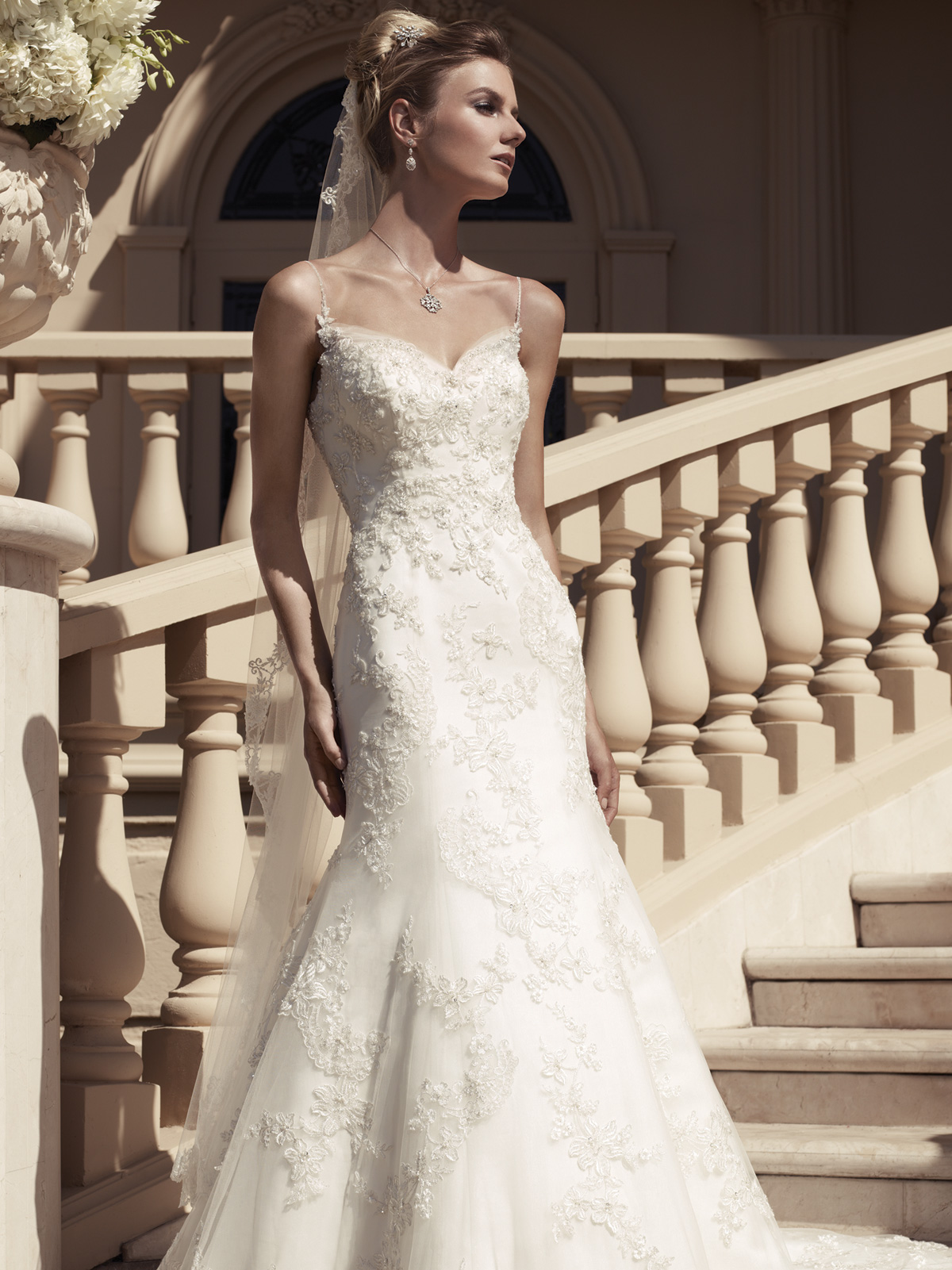 Spaghetti Strap Fit And Flare Casablanca Bridal Gown 2117