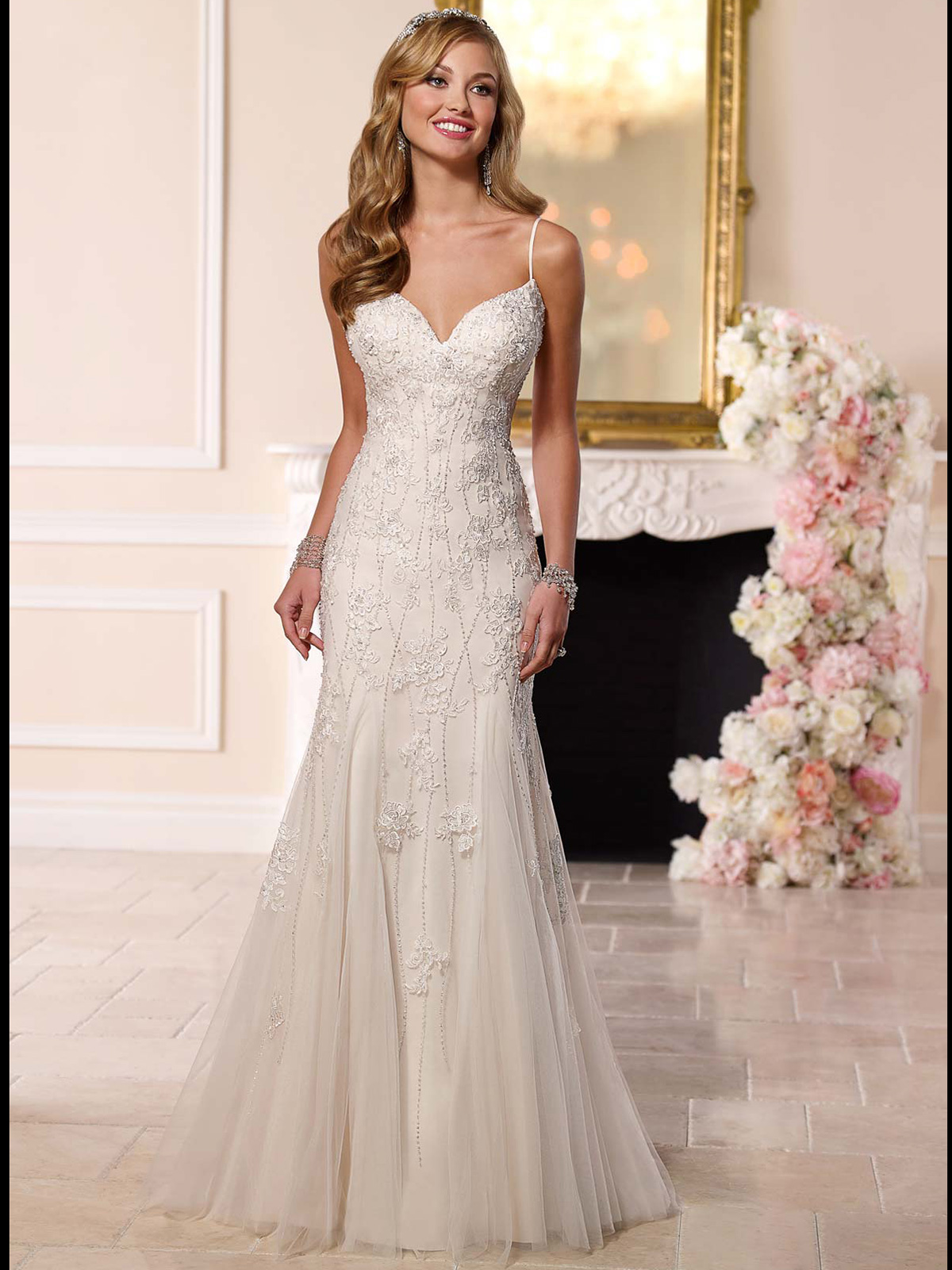 Stella York 6203 Spaghetti Straps Mermaid Wedding Dress