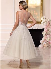 Stella York 6258 Illusion Boat Neckline Wedding Dress