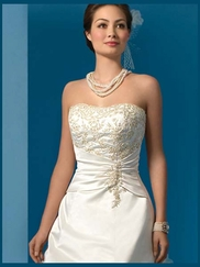 Strapless Bridal Dress Alfred Angelo 2008