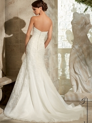 Strapless Lace Fit And Flare Mori Lee Blu Wedding Dress 5314