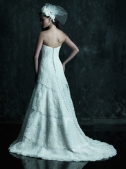 Strapless Layered Skirt Wedding Dress Couture By Allure Bridals C243