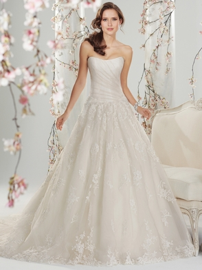 Strapless Pleated Bridal Gown Sophia Tolli Melisandre Y11416
