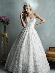Strapless Sweetheart Allure Couture Wedding Dress C328