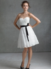 Strapless Sweetheart Bridesmaids Affairs Dress By Mori Lee 31005