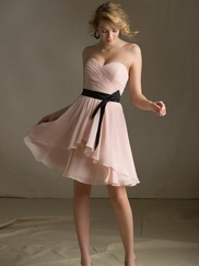 Strapless Sweetheart Bridesmaids Affairs Dress By Mori Lee 31013
