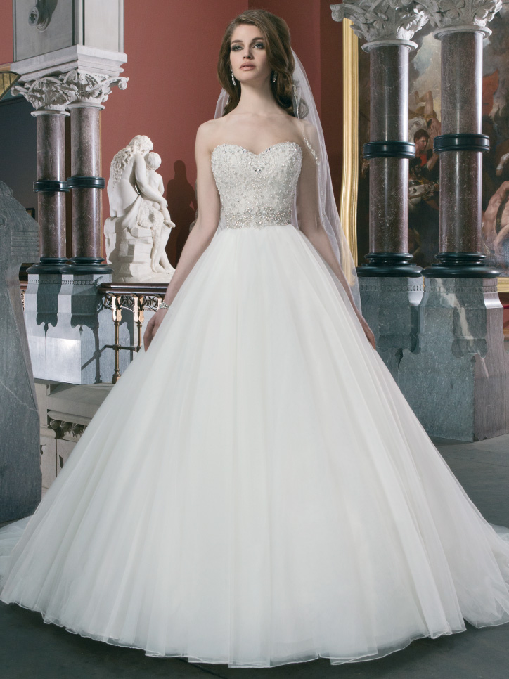 Sweetheart Beaded Bodice Justin Alexander Bridal Ball Gown