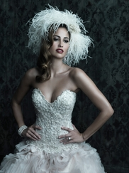 Strapless Sweetheart Wedding Ball Gown Couture By Allure Bridals C229