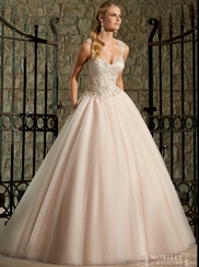 Sweetheart Beaded Lace And Tulle Ball Gown Mori Lee Wedding Dress 2716