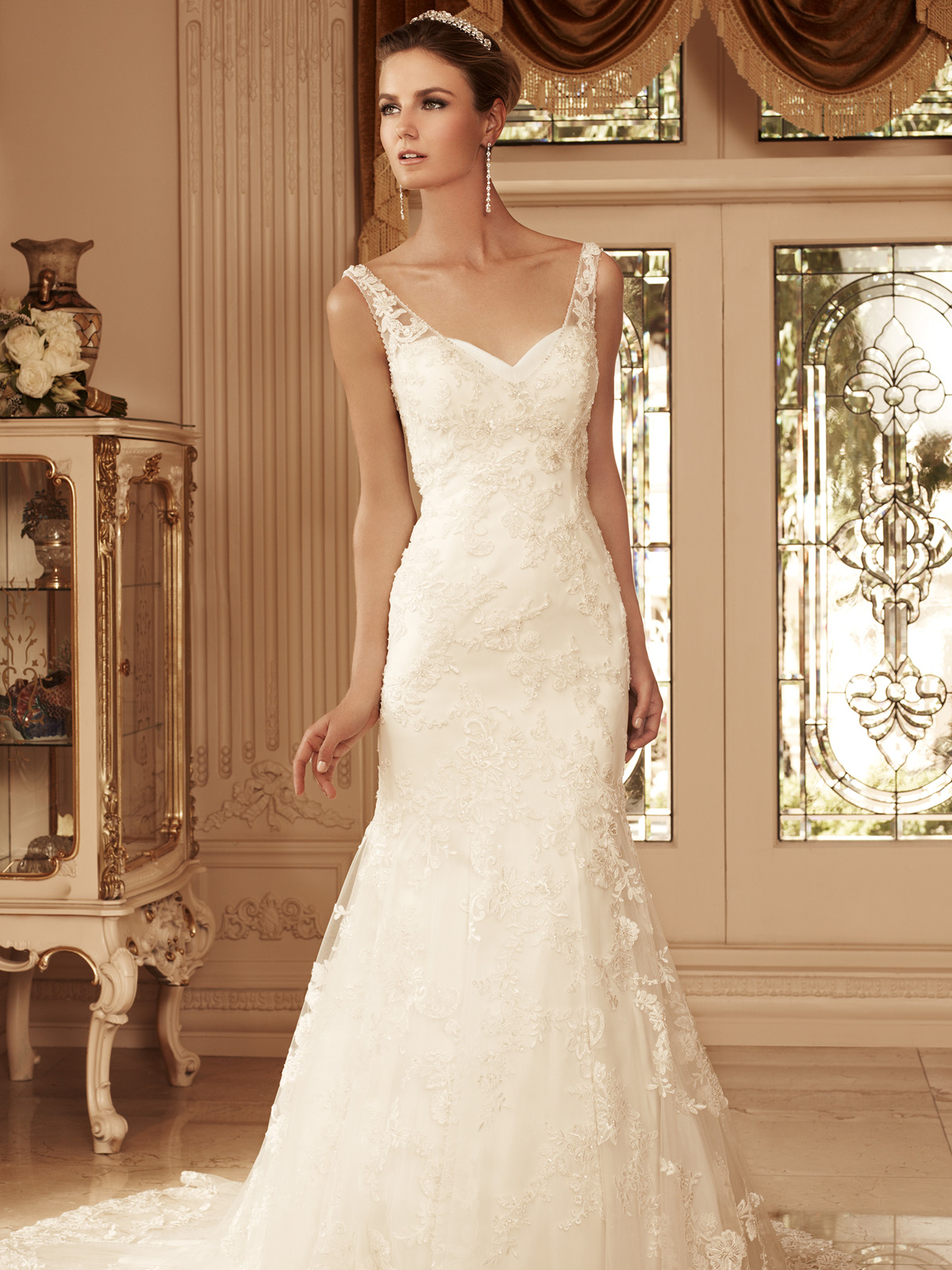 Sweetheart Trumpet Bridal Gown Casablanca Bridal Gown 2099