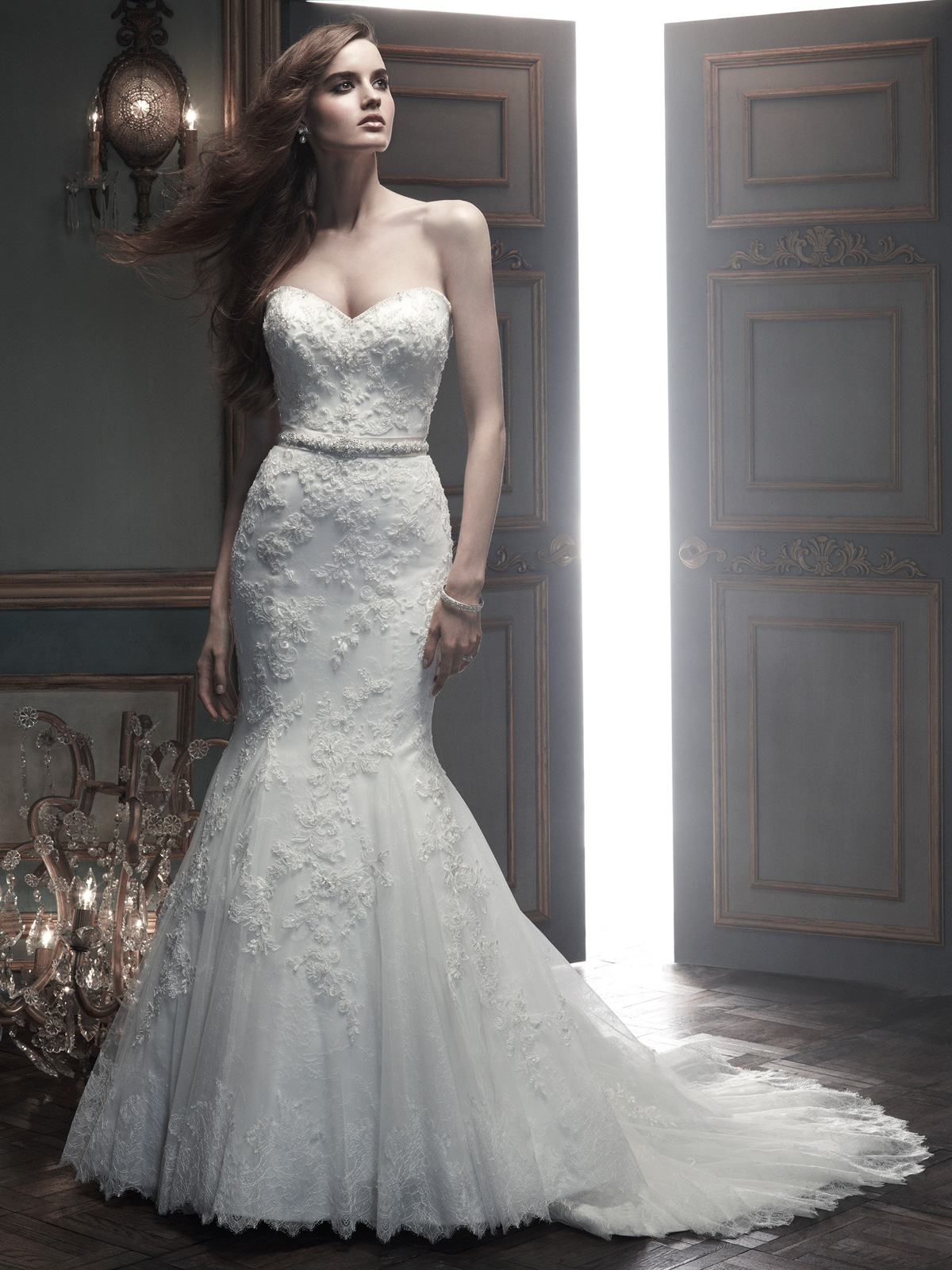 Sweetheart Mermaid CB Couture Bridal Gown B069|DimitraDesigns.com