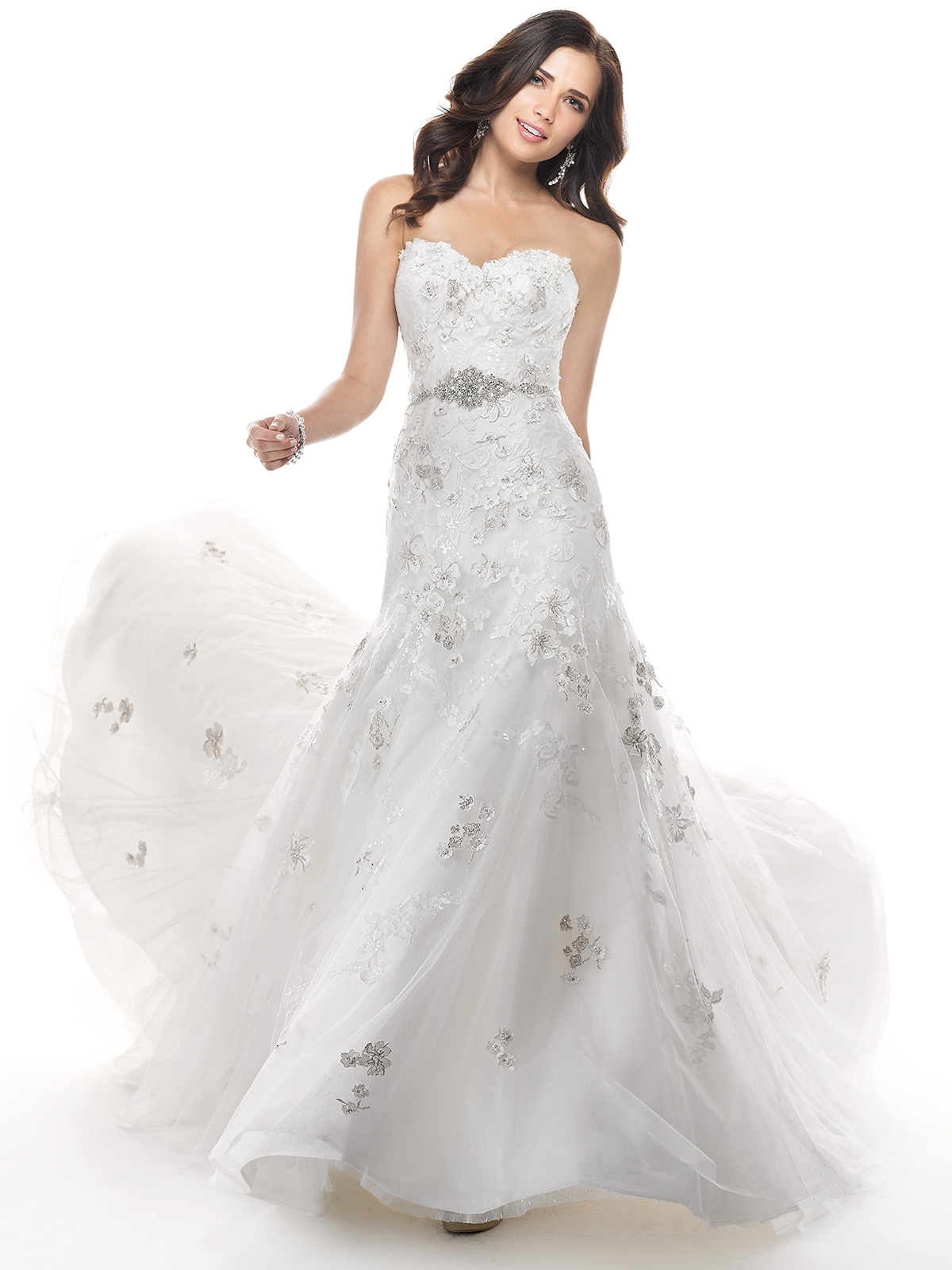 Janice Sung Wedding Sweetheart Beaded Lace Bridal Gown Maggie Sottero Delores