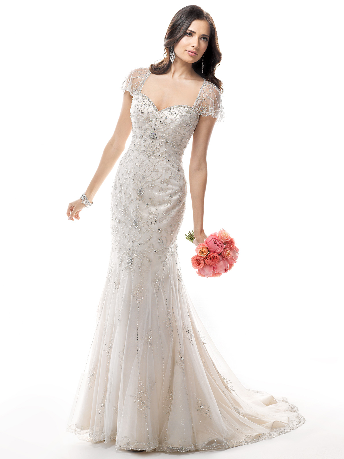 Janice Sung Wedding Sweetheart Beaded Tulle Bridal Gown Maggie Sottero Janelle