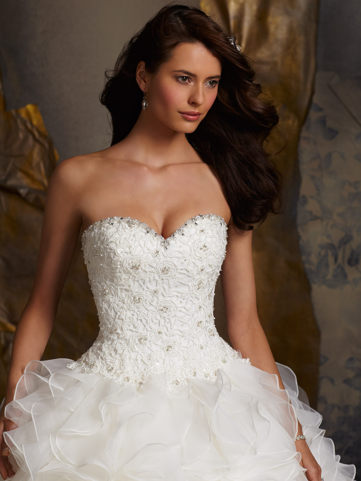 Janice Sung Wedding Sweetheart Crystal Beaded Lace And Beaded Bridal Gown