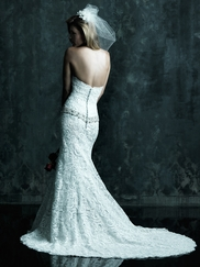 Sweetheart Crystal Dropped Belt Wedding Dress Couture By Allure Bridals C245