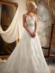 Sweetheart Lace And Beaded Bridal Gown Mori Lee 1913