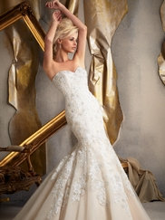 Sweetheart Lace And Net Bridal Gown Mori Lee 1923